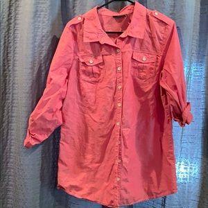 a.n.a button down blouse